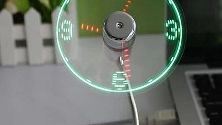 USB LED Ventilátor s hodinami