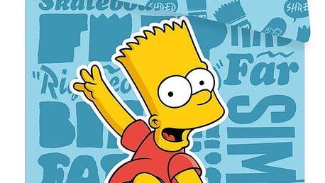 Jerry Fabrics Dětské bavlněné povlečení Bart blue 02, 140 x 200, 70 x 90 cm