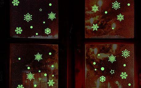 Samolepka na Vánoce- sněhová vločka