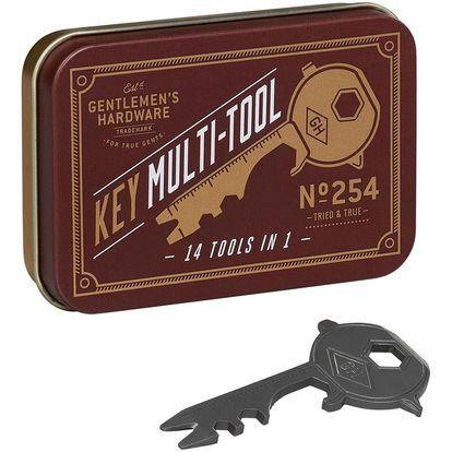 GENTLEMEN'S HARDWARE Multifunkční nástroj - klíč 14v1, červená barva, šedá barva, zlatá barva, kov