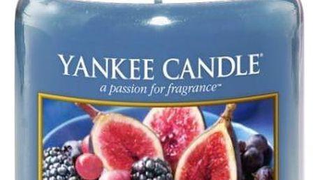 Yankee Candle Svíčka Yankee Candle 623gr - Moruše a fíky, modrá barva, sklo, vosk