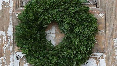 Chic Antique Adventní věnec Cypress 30cm, zelená barva, plast