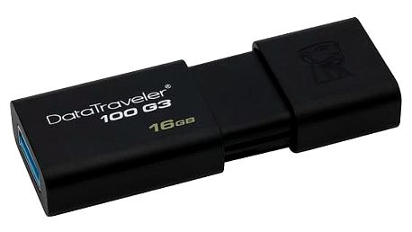 Kingston DataTraveler 100 G3 16GB černý (DT100G3/16GB)