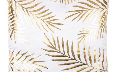JAHU Polštářek Gold De Lux List, 43 x 43 cm
