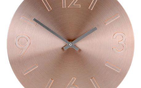 Emako Kulaté nástěnné hodiny, hliník, Ø 35 cm