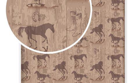 Jerry Fabrics Dětské bavlněné prostěradlo Kůň Western, 90 x 200 cm