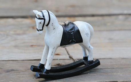Chic Antique Dekorativní houpací koník Black, černá barva, krémová barva, dřevo