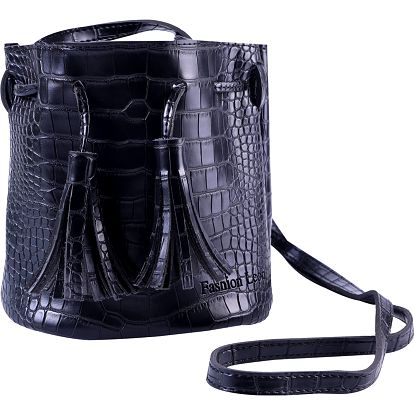 Fashion Icon Kabelka - ledvinka bucket bag motiv krokodýl