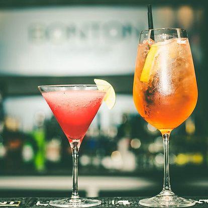 Otevřený voucher v hodnotě 250 i 500 Kč na drinky