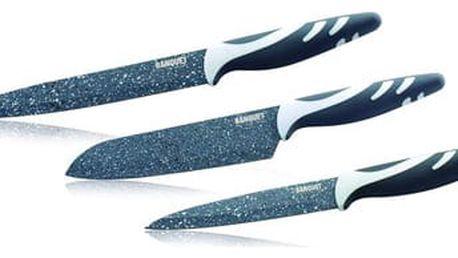 BANQUET GRANITE Sada nožů s nepřilnavým povrchem 3 ks 25055003