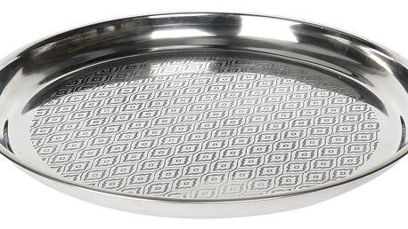EH Excellent Houseware Podnos na servírování jídla, občerstvení - nerezová ocel, stříbrná barva