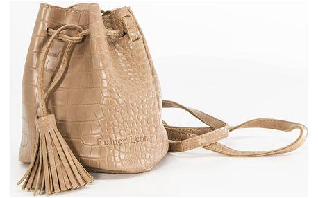 Fashion Icon Kabelka - ledvinka bucket bag motiv krokodýl