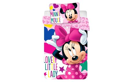 Jerry Fabrics Dětské bavlněné povlečení do postýlky Minnie baby, 100 x 135 cm, 40 x 60 cm