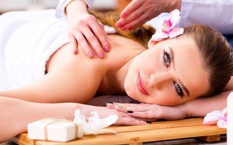 Rekondiční a uvolňující masáž zad a šíje s nahřátím