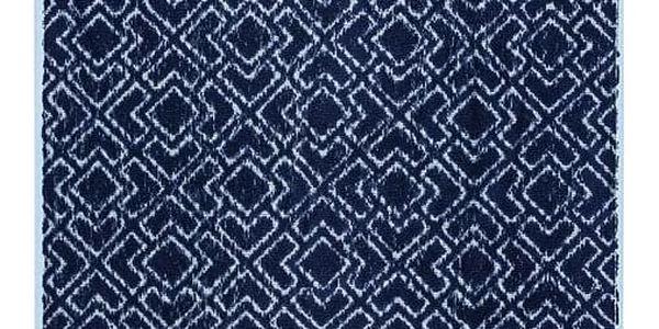 Jahu Osuška a ručník Geometrie modrá, sada 2 ks4