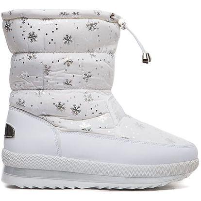 Dámské bílé sněhule Fairy 012