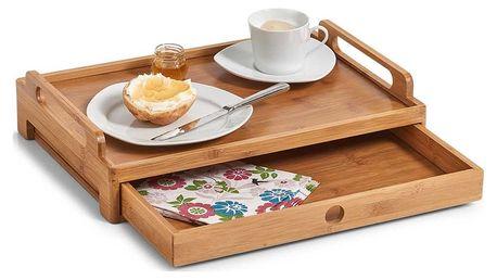 Podnos snídaňový se zásuvkami, 100% bambus, ZELLER