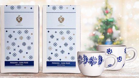 Výběrová káva a šálky z Moravské keramiky