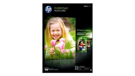 Fotopapír HP Everyday Glossy, lesklý, bílý, A4, 200 g/m2, 100 ks bílý (Q2510A)