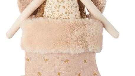 Maileg Králíček v punčošce Angel Powder, růžová barva, textil