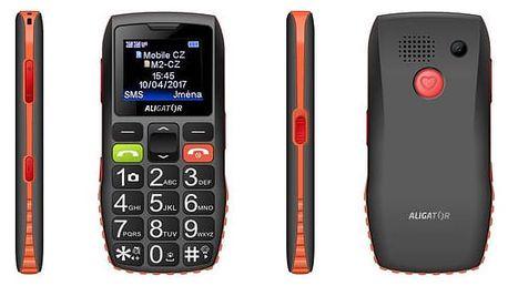 Aligator A440 Senior černý/oranžový (A440BO)