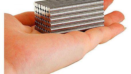 Neodymové magnety - 100 ks - dodání do 2 dnů