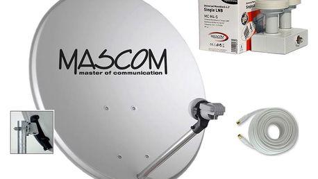 Mascom OP-VJ2 + LNB monoblock + kabel koax šedá