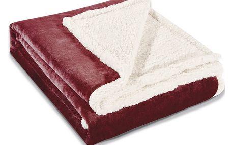 DecoKing Beránková deka Teddy tmavě červená, 150 x 200 cm