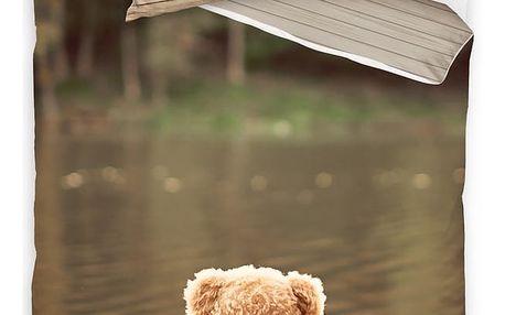 BedTex Bavlněné povlečení Medvídek, 140 x 200 cm, 70 x 90 cm