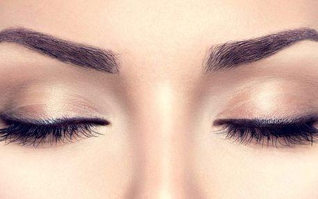 Oči jako šelma: prodlužování řas vč. úpravy obočí