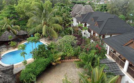 Zanzibar - Nungwi na 8 dní, snídaně s dopravou letecky 50 m od pláže