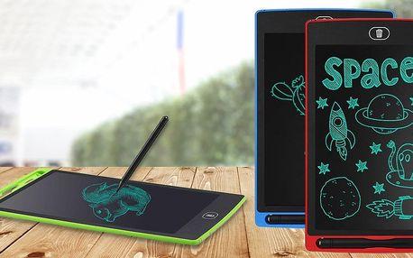 Elektronická mazací tabulka ve třech barvách