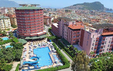 Turecko - Alanya na 8 dní, all inclusive s dopravou letecky z Prahy 500 m od pláže