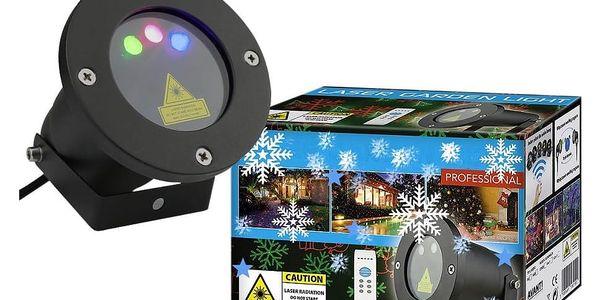 Vánoční laserový projektor - NEBESKÝ - 20 x 20 m s časovačem - OEM AT53752