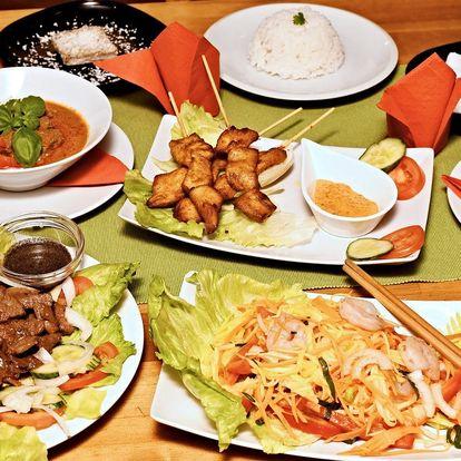 Kambodžské menu: tygří krevety i banánový dort