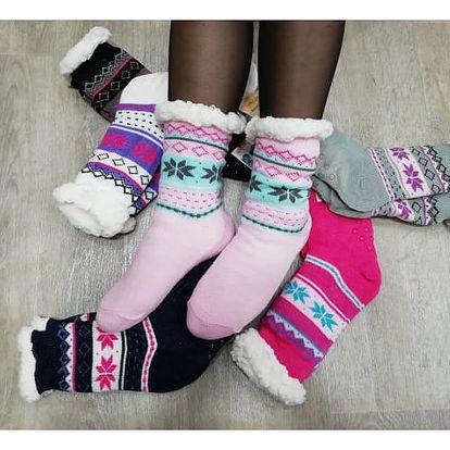 Dámské hřejivé ponožky COLOURS
