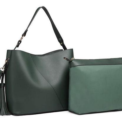 SET: Dámská zelená kabelka Effy 6862