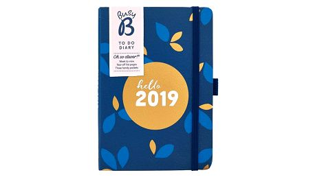 Busy B Diář 2019 To Do Pretty, modrá barva, zlatá barva, papír