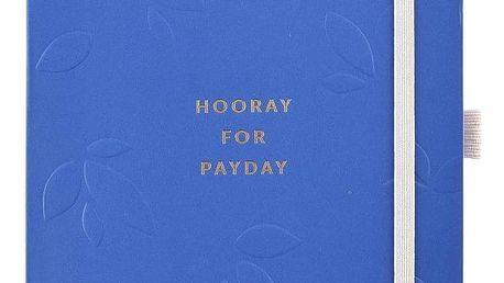 Busy B Deník na domácí účetnictví Hooray for payday Pretty, modrá barva, papír