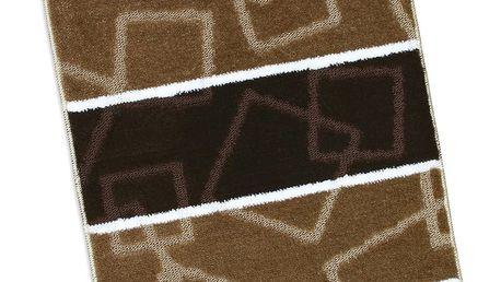 Bellatex Koupelnová předložka Avangard Hnědé čtverce, 60 x 100 cm