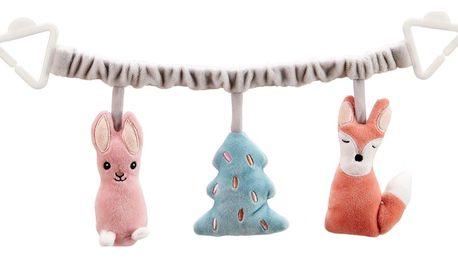 Kids Concept Závěs na kočárek Edvin, multi barva, plast, textil