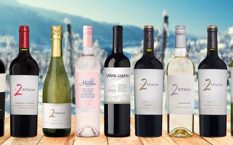 Sety argentinských vín po 2 nebo 3 láhvích