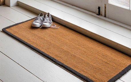 Garden Trading Dvojitá rohožka Coir 125x55cm, černá barva, hnědá barva