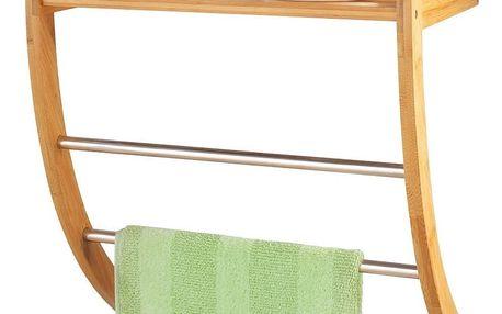 Věšák na ručníky + koupelnová polička, 2 v 1, ZELLER