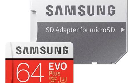 Samsung Micro SDXC EVO+ 64GB UHS-I U3 (100R/60W) + adapter (MB-MC64GA/EU)