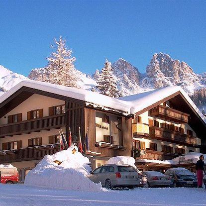 Lyžování Itálie, Dolomiti Superski - Hotel Arnica - 5denní lyžařský balíček se skipasem a dopravou v ceně