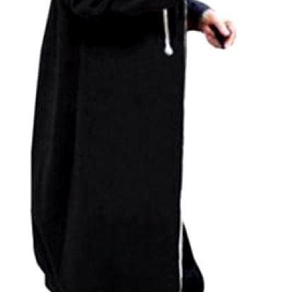 Dlouhá mikina na zip s kapucí - 4 barvy