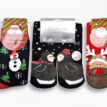 Protiskluzové vánoční dámské i pánské ponožky