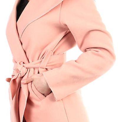 Dámský fleecový kabátek s kapucí světle růžová