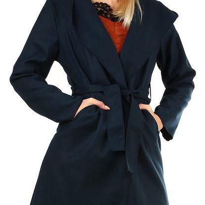 Dámský fleecový kabátek s kapucí tmavě modrá